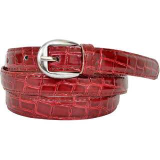 Altek Red Colored Women Casual Belt (Model No BELT1213RED )