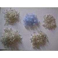 Jewel Making Kits - SILVER Finish Ear Hooks,Rings,Stud Pin,Head Pin&Bush-500pcs