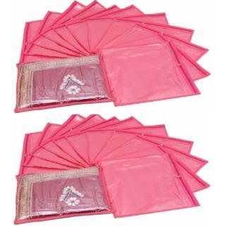 Fashion Bizz Regular Pink Saree Bags - 24 Pcs Combo