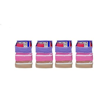 Fashion Bizz Regular Multi Saree Bags 12 Pcs Combo