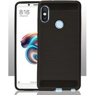 new style f2c7f 89f94 five square 360 Degree Shock Proof Soft Back Cover Case For Redmi Note 5  Pro / Redmi Note 5 Pro - Metallic Black