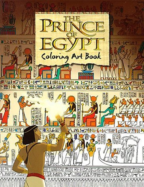 The Prince of Egypt Coloring Art Book (Dreamworks) by Puffin