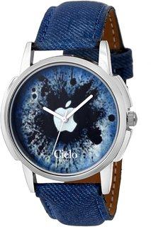 Cielo Blue Denim Strap Watch For Men
