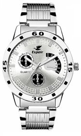 Espoir Analog Stainless Steel White Dial Men's Watch -