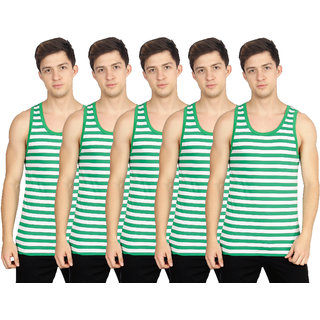 OLLI Green Sleeveless Vests Pack of 5