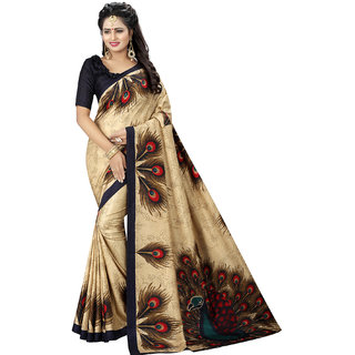 Wilori Beige Cotton Silk Saree