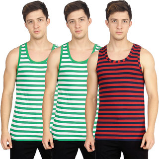 OLLI Multicolor Sleeveless Vests Pack of 3
