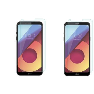 LG Q6 tempered glass (Pack of 2 ) 0.33mm 2.5D tempered glass by mascot max