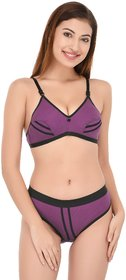 .DeVry Cotton Perfect Coverage T-shirt Bra  Hipster Set ( Pack Of 1 Set )