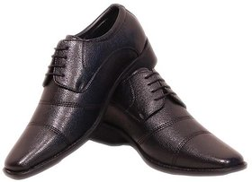Wilson America Genuine Leather Lace Up Men Shoes  (Blac