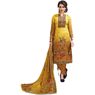 SrishtiCreations Woman's Summer Cotton Suit with dupatta(Unstitched Suit)
