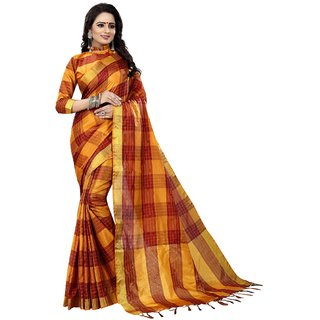 Wilori Gold Cotton Saree