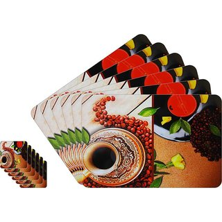 Shubheksha Dining Table Placemats and Coasters (Pack of 12) (TP-023)
