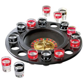 Emerge Roulette Casino Game Set With 16 Drinking Shot Glasses 16 Shot Glasses and 2 Metal Balls