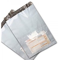 TIKNOS 100 Pc 15x19 Tamper Proof Courier Bags With POD Jacket 60 Micron