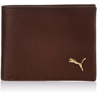 Puma Men Brown Genuine Leather Wallet  4 Card Slots  Wallets