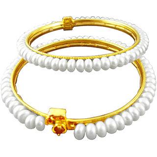 Sri Jagdamba Pearls White Pearl Bangles