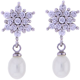 Sri Jagdamba Pearls Shining Star Drop Earrings