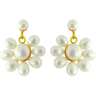 5ce2d20bef319 Sri Jagdamba Pearls Flower Pearl Earrings