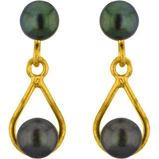 Sri Jagdamba Pearls Grey Drop Hangings