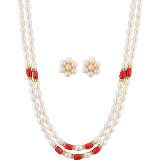 0a61032116c13 Sri Jagdamba Pearls Modern Pearl Necklace Set