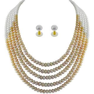 Sri Jagdamba Pearls Precious Pearl Necklace: