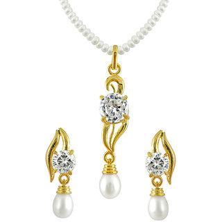 Sri Jagdamba Pearls Pearl Pendent Set .