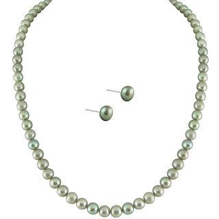 Sri Jagdamba Pearls Simple Grey Pearl Set