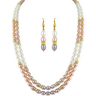 Sri Jagdamba Pearls Multicolored Classic Pearl Set