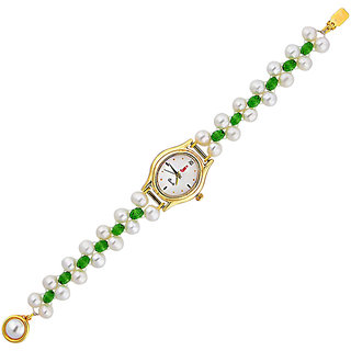 Sri Jagdamba Pearls Gleam Touch Pearl Watch