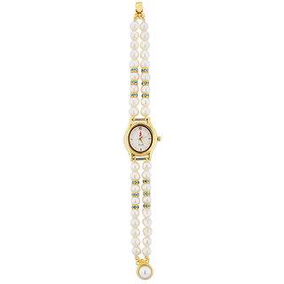Sri Jagdamba Pearls Valentines Special Oval Pearl Watch