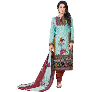 MAC Multicolor Printed Unstitched Salwar Suit for Women