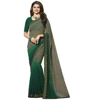 Vastrabazar Green Bangalore Silk Designer Saree