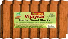 NutrActive Vijaysar Herbal Wood Blocks for Diabetes Control, Cholesterol, Arthritis  weight loss - (14 wood Blocks)