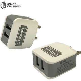 2.4 A High Speed Wall Charger Along With USB Cable For Fast Charging  Data Transfer For Vivo, Oppo, Redmi Note, Samsung