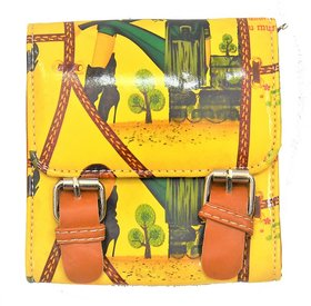 Women's Designer Small Sling Bag  Kids Sling Bag  Yello
