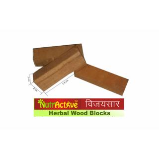NutrActive Vijaysar Herbal Wood Blocks for Diabetes Control (8 Blocks)(3 inch x 1 inch x 1 inch each)