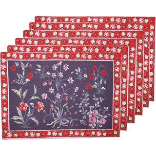 13''x19'' Printed table Mats placement mat-kitchen mat Set of 6 Garden Grey