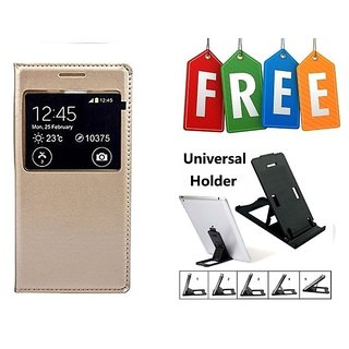 Flip Cover Of Samsung Galaxy On5 With Free Mobile Universal Adjustable Mobile Stand/ Mobile Holder - Super Value Combo Offer