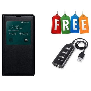 Samsung Galaxy J5 Prime Flip Cover With Free USB Hub - Super Value Combo Offer