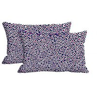 Polygon Pattern Set Of 2 Pc Digitally Printed Pillow Cover -Size(12x18)