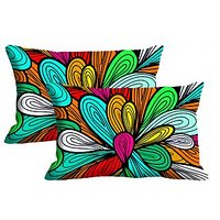 Multicolor Ballon Set Of 2 Pc Digitally Printed Pillow Cover -Size(12x18)