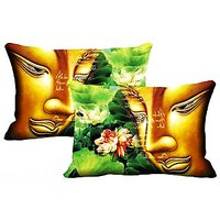 Saint Set Of 2 Pc Digitally Printed Pillow Cover -Size(12x18)