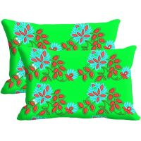 Leaf Set Of 2 Pc Digitally Printed Pillow Cover -Size(12x18)