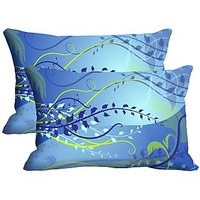 Vine Set Of 2 Pc Digitally Printed Pillow Cover -Size(12x18)