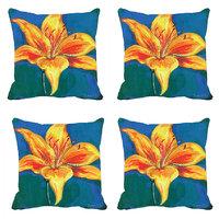 Yellow Tulip Digitally Printed Cushion Cover (12x12)