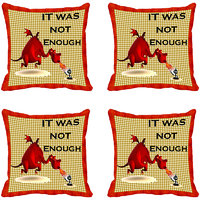 It Was Not Enough Digitally Printed Cushion Cover (12x12)