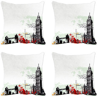 Grey City  Digitally Printed Cushion Cover (12x12)