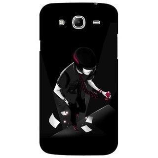 Snooky Printed Hep Boy Mobile Back Cover For Samsung Galaxy Mega 5.8 - Black