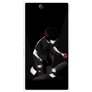 Snooky Printed Hep Boy Mobile Back Cover For Sony Xperia Z Ultra - Black